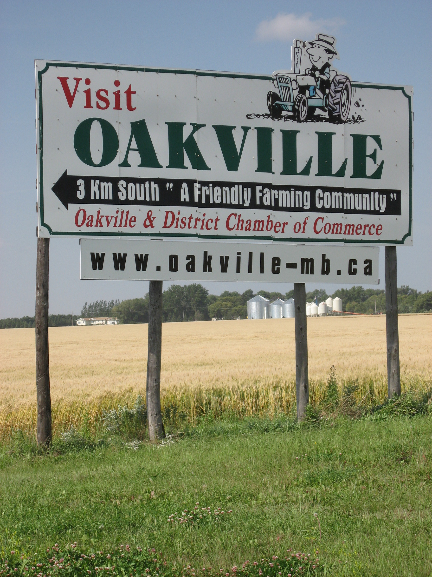 Oakville Highway Sign