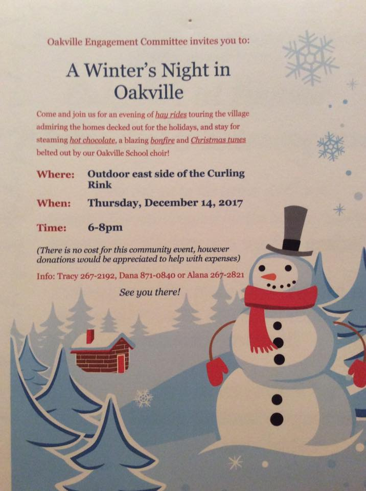 Event poster for A Winter's Night in Oakville