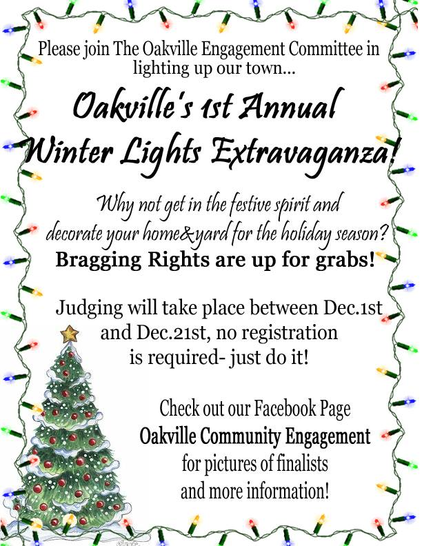 Poter for Oakville's 1st Annual Winter Light Extravaganza