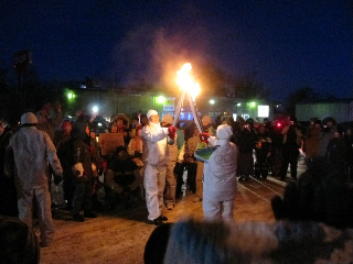 """2010 Olympics Torch Relay """"kiss of the torch"""""""