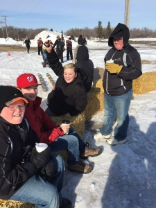 Some local kids having a great time at Winterfest