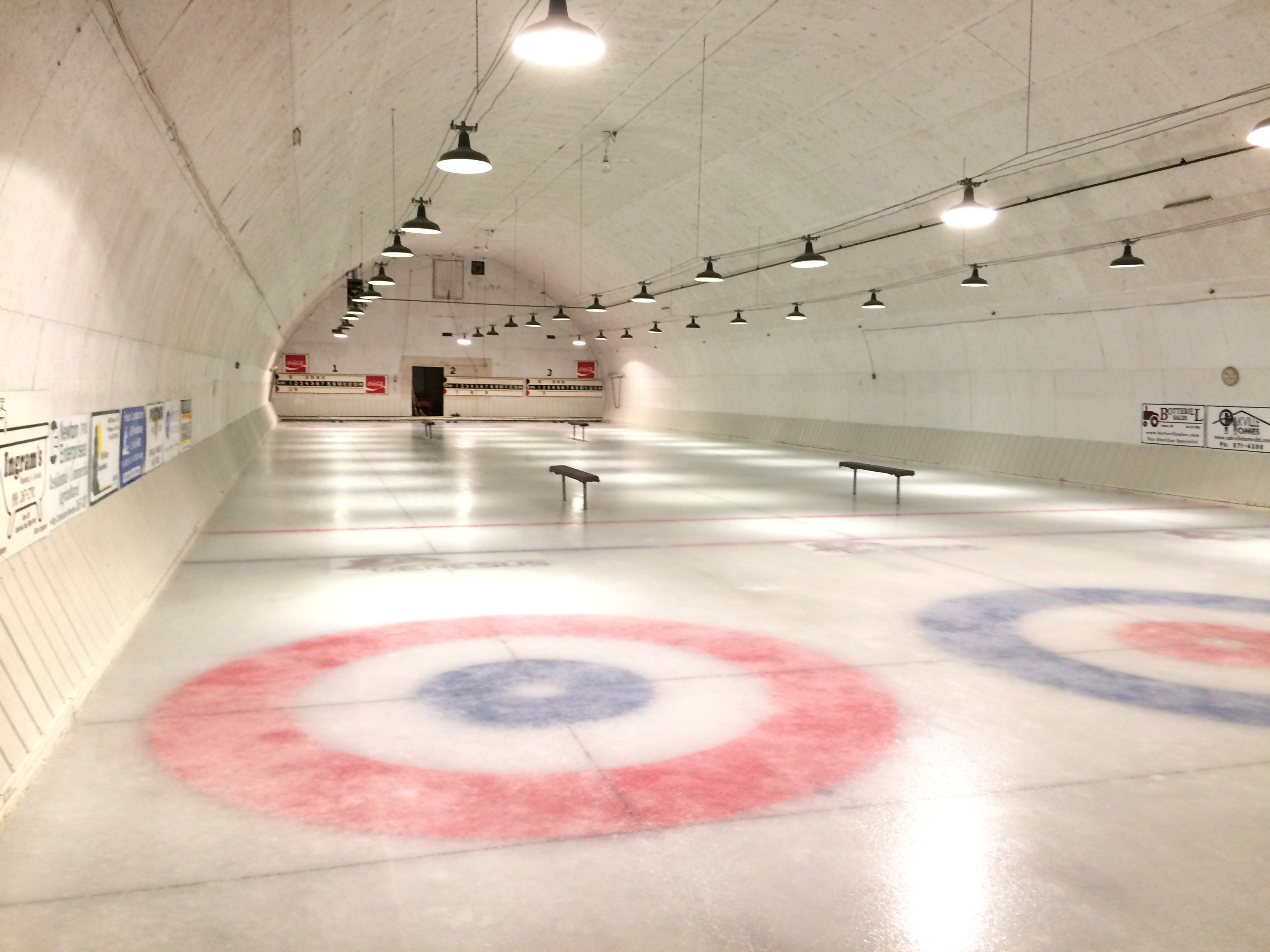 Ice level at the curling rink